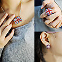 Women's Trendy UK Flag Diamond Necklace