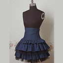 Knee-length Dark Navy Cake Style Sailor Lolita Skirt