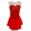Girl's Figure Elastic Net Skating Dress (Red)