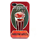 Milkshakes Caso Pattern rgido para iPhone 4/4S