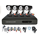 Anko - High Definition 4CH H. 264 CCTV DVR-Kit (4 Outdoor-CMOS 500 TVLine Camera)