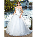 Ball Gown Sweetheart Strapless Satin And Organza Wedding Dress