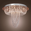 PRICHARD - Lustre Cristal Cromado com 18 Lmpadas