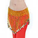Dancewear Polystyrene With Coins Belly Hip Scarf More Colors Available