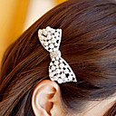 Women's Diamond Pearl Bow Hair Clip(7.7*3CM)