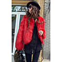 Long Sleeve Collarless Casual/Evening Faux Fur Jacket