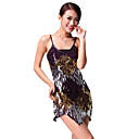 Performance Dancewear Chinlon with Shining Sequins Latin Dance Dress