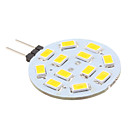 Lampadina LED luce bianca/calda G4 6W 12x5630 SMD 500-560LM 3000-3500K(12V)