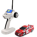 Mini-Z Firelap 1/28 4WD RC Mitsubshi EVO with 2.4G color screen Transmitter