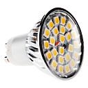 GU10 5W 24x5050 SMD 380-420LM 3000-3500K Warm wit licht LED Spot lamp (220-240V)