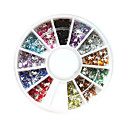 12-Color Plastic Twinkle Nail Art Decorations of Stars