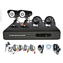 Anko - High Definition  4CH H. 264 CCTV DVR Kit with 2 Outdoor &amp; 2 Indoor Camera (CMOS 500 TVLine)