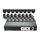 16 CH DVR Home Security Surveillance Camera System (8 Innen-und 8 Outdoor-Night Vision Kamera)