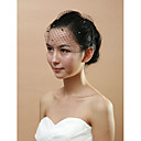 Bridal Net With Imitation Pearl Women's Birdcage Veils
