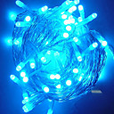 10M 7 Lines White LED String Light with 100 LEDs(Star,attachable between head and trail)