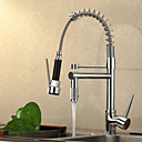 Contemporary High-Pressure Chrome Kitchen Faucet