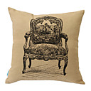 Retro Chair Linen Decorative Pillow Cover