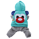 Big Nose Bear Style Hoodie with Pants for Dogs (Blue,XS-XL)