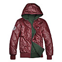 Men's Shining Thickened Warm Reversible Hooded Cotton Jacket (Assorted Sizes and Colors)