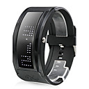 White LED Black Band Wrist Watch with 10 Character Display