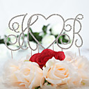 Gorgeous Shining Rhinestone Monogram Wedding Cake Topper