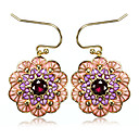 Charming 23K Gold Plated Cubic Zirconia Drop Earrings