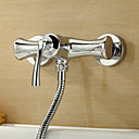 Sprinkle by Lightinthebox - Chrome Finish Centerset Wall Mount Single Handle Brass Shower Faucet