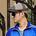 Men's Big Check Print Leisure Hat/Cricket Cap(56-58cm)