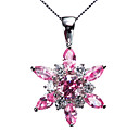 Beautiful 925 Silver With Cubic Zirconia Plating Platinum Women's Necklace