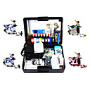 4 Carbon Steel Tattoo Machine Guns Kit fr Liner und Shader mit Carry Case