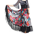 Dancewear Chiffon With Print Performance Belly Skirt For Ladies