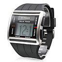 Men's Scrollable Rubber Digital Automatic Wrist Watch (Black)