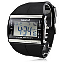 Men's Multi-Functional Style Rubber LED Digital Wrist Watch (Black)
