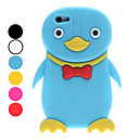 3D Style Cartoon Penguin Pattern Soft Case for iPhone 5 (Assorted Colors)