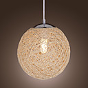 Globe Shaped 1-Light Pendant Light (Dia 9.8)