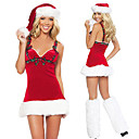 Fancy Checkered Purfle Red Velvet Christmas Costume (3 Pieces)
