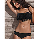 Women's Bandeau Strapless Black Acacia Swimwear