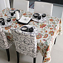 Country Floral Cotton Linen Blend Table Cloths