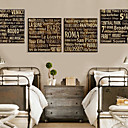 Stretched Canvas Print Words & Quotes Western Cities Set of 4 1301-0157