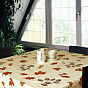 Printed Maple Leaves Square 100% Cotton Table Cloth
