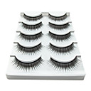 5 Pair Black Fiber eyelash False Eyelashes (5-001)