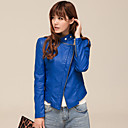 Long Sleeve Turndown Collar PU Casual/Party Jacket (More Colors)