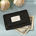 Personalized Leather Card Holder/Money Clip