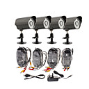Day/Night Security Camera 4 Pack For DIY(4 Waterproof Outdoor Cameras)