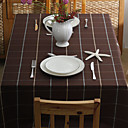Brown Plaid Cotton Table Cloths