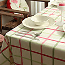 Cotton Beige Plaid Table Cloths