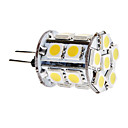 G4 3.5W 18x5050 SMD 280-300LM 3000-3500K bianco caldo lampadina LED Light Corn (12V)