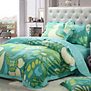 Abstract Floral Full 4-Piece Duvet Cover Set