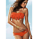 Women's Bandeau Cut Out Strapless Orange Acacia Swimwear