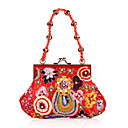 Classic Cotton with Embroidery and Sequins Evening Handbag/Clutches(More Colors)